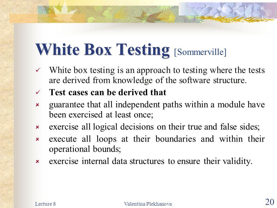 White Box Testing [Sommerville]
